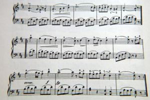 Here you can the an example of a piano piece.