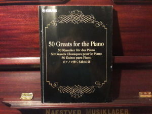 "Yamaha's YDP-143 Sheet music Book ""50 Greatest hits for the piano"""