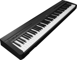 The Yamaha P45 shown sideways
